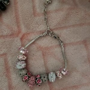 Pretty in Pink Charm Bracelet